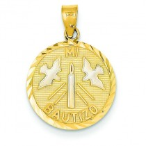 Mi Bautizo Charm in 14k Two-tone Gold