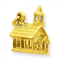 Church Charm in 14k Yellow Gold