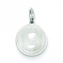 Holy Communion Disc Charm in Sterling Silver