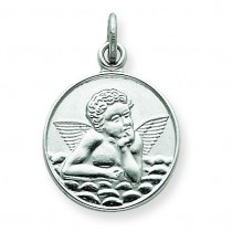 Back Angel Medal in Sterling Silver