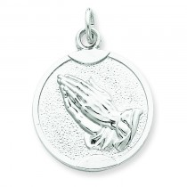 Praying Hands Medal in Sterling Silver