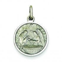 Baptism Medal in Sterling Silver