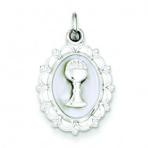 Holy Communion Charm in Sterling Silver