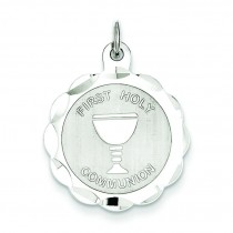 First Holy Communion Disc Charm in Sterling Silver