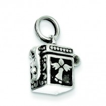 Angel Prayer Box Charm in Sterling Silver