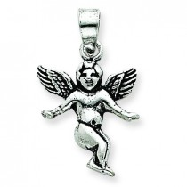 Antique Angel Charm in Sterling Silver