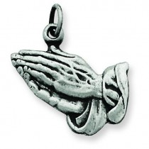 Praying Hands Charm in Sterling Silver