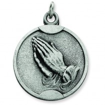 Praying Hands Pendant in Sterling Silver
