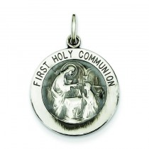 First Holy Communion Medal in Sterling Silver