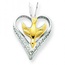 Gold Plated Dove Pendant in Sterling Silver