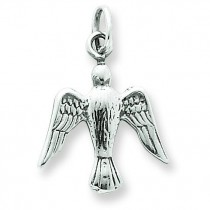 Antiqued Dove Charm in Sterling Silver