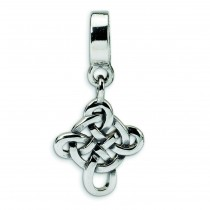 Celtic Weave Cross Dangle Bead in Sterling Silver