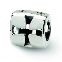 Maltese Cross Bead in Sterling Silver