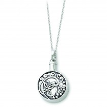 Circle Ash Holder Necklace in Sterling Silver
