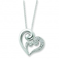 A Mothers Journey Heart Necklace in Sterling Silver