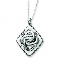 Family Blessings Necklace in Sterling Silver