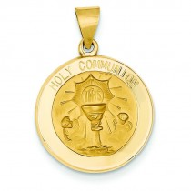 Holy Communion Medal in 14k Yellow Gold
