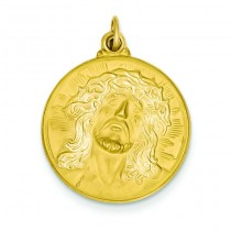 Jesus Medal in 14k Yellow Gold