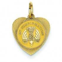 My Confirmation Heart Disc in 14k Yellow Gold
