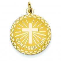 Confirmation Disc in 14k Yellow Gold