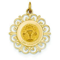 Confirmation Medal in 14k Yellow Gold