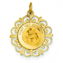 First Holy Communion Charm in 14k Yellow Gold
