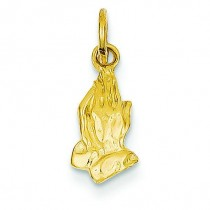 Praying Hands Charm in 14k Yellow Gold