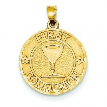 First Communion Charm in 14k Yellow Gold