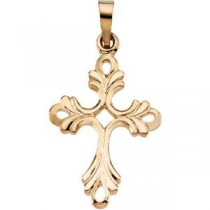 Fancy Cross in 14k Yellow Gold