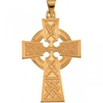 Large Celtic Cross in 14k Yellow Gold