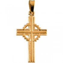 Celtic Cross in 14k Yellow Gold