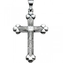 Fashion Cross in 14k White Gold