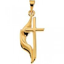 Methodist Cross in 14k Yellow Gold