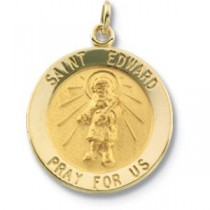 St Edward Medal 18 Inch Chain in Sterling Silver