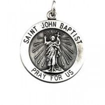 St John The Baptist Medal in Sterling Silver