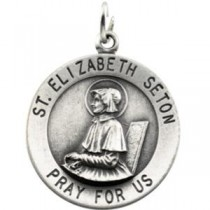 St Elizabeth Seton Medal in 14k Yellow Gold