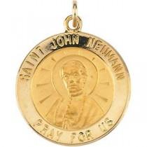 St John Neuman Medal in Sterling Silver