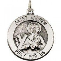 St Andrew Medal in Sterling Silver