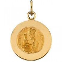 St Anne De Beaupre Medal in 14k Yellow Gold