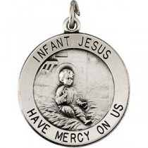 Infant Jesus Pendant in Sterling Silver