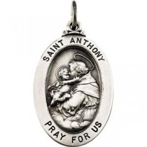 St Anthony Medal in Sterling Silver