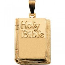 Bible in 14k Yellow Gold