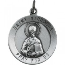 St Nicholas 18 Inch Chain in Sterling Silver