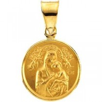 Perpetual Help Medal in 18k Yellow Gold