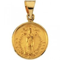 Lady of Guadalupe Medal in 18K Yellow Gold in 18k Yellow Gold