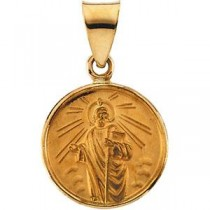 St Jude Medal in 18k Yellow Gold