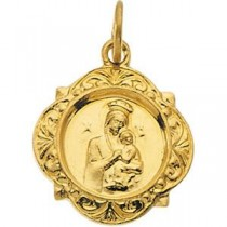 Lady Of Perpetual Help Medal in 14k Yellow Gold