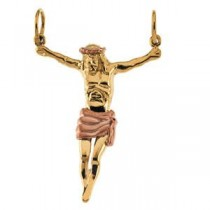 Corpus Crucifix Pendant in 14k Yellow Gold