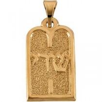 Ten Commandments Pendant in 14k Yellow Gold