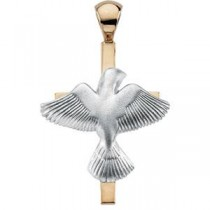 Dove Cross in Sterling Silver